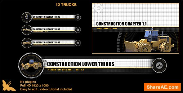 Videohive Construction Lower Thirds & Chapter Titles