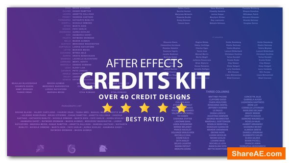 20 Cinema Film Credits Pack - After Effects Project (Videohive)