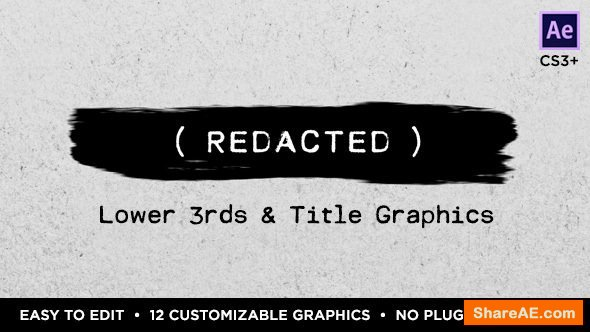 Videohive Redacted Titles and Lower Thirds