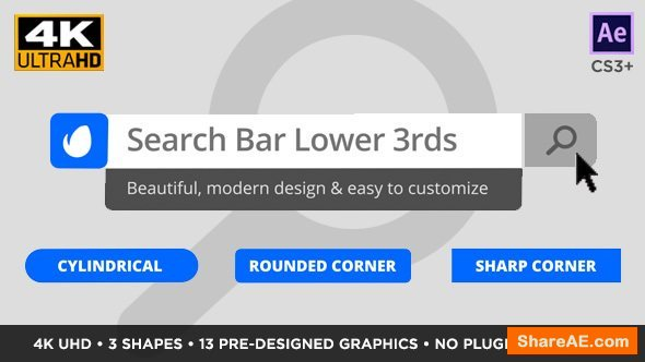 Videohive Search Bar Titles and Lower Thirds