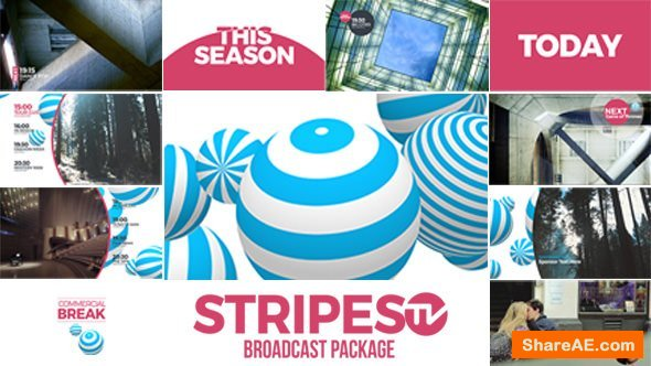 Videohive Stripes tv Broadcast Package