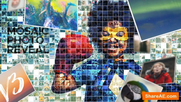Videohive Mosaic Photo Reveal v3