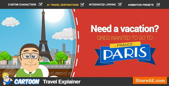 Videohive Cartoon Travel Explainer