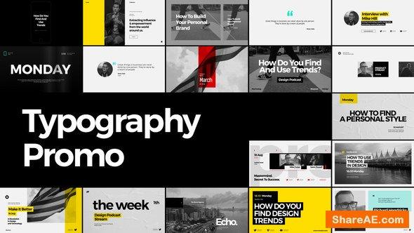 Videohive Typography Promo 22114107