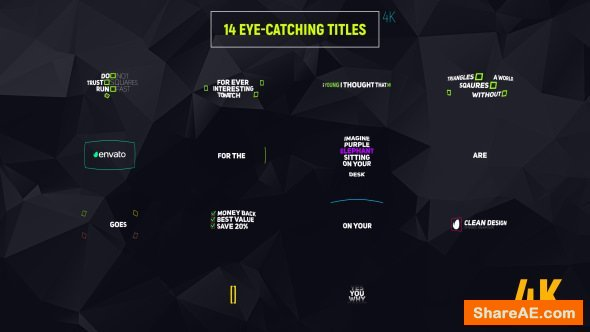 Videohive 14 Eye-catching Titles