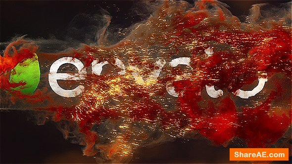 Videohive Fire Explosion Logo Reveal 3