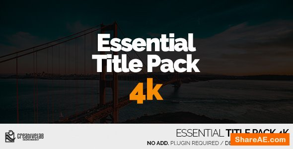 Videohive Essential Title Pack 4K