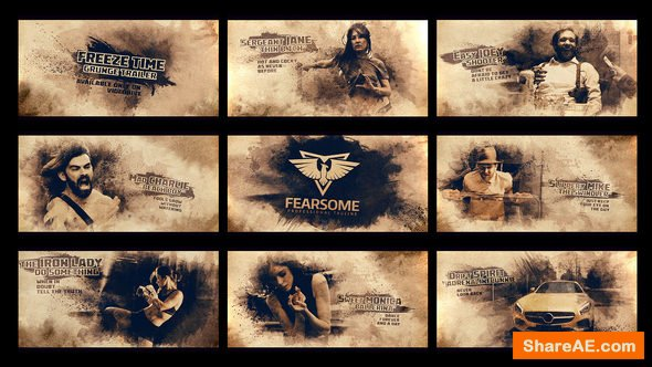 Videohive Freeze Moment Grunge Trailer
