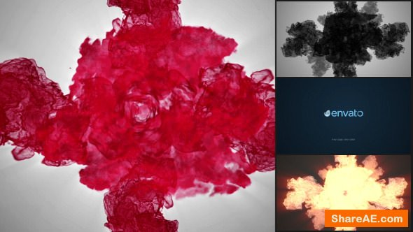 Videohive Particle Smoke Glitch - Logo Reveal