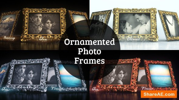 Videohive Ornamented Photo Frames Gallery