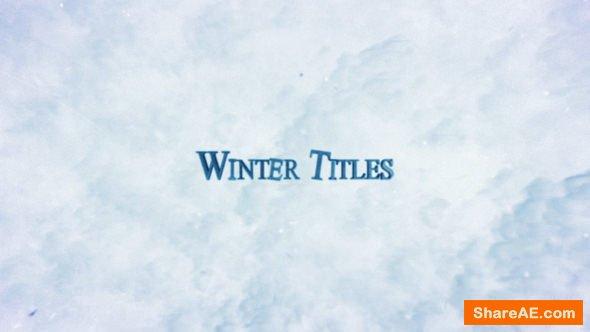 Videohive Winter Trailer Titles