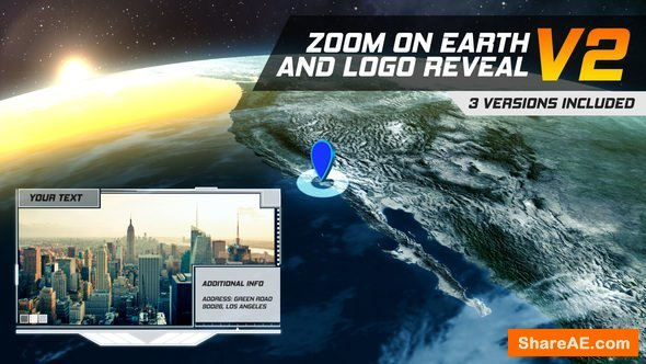 Videohive Zoom On Earth And Logo Reveal V2