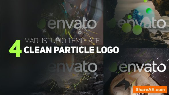 Videohive 4 Clean Particle Logo