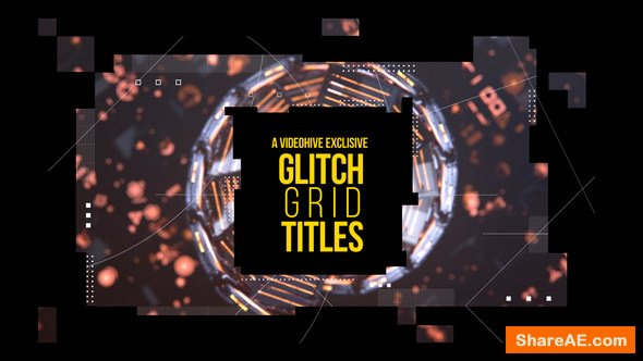 Videohive Glitch Grid Titles