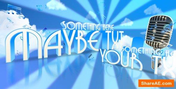 Videohive Retro dancing typography presentation