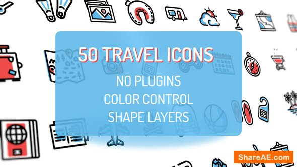 Videohive Travel Holiday Flat Icons