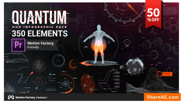 Videohive Quantum HUD and HiTech Elements for Premiere Pro