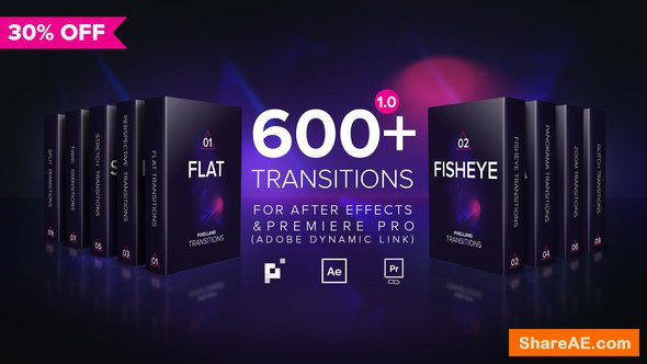 400+ Transitions for Premiere Pro (Win/Mac) » free after effects