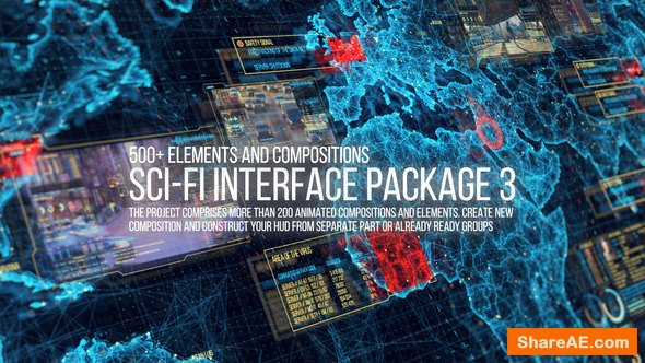 Videohive Sci-fi Interface HUD Package 3
