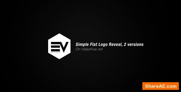 Videohive Simple Flat Logo Reveal