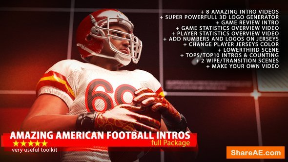 Videohive Amazing American Football Intro