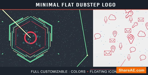 Videohive Minimal Flat Dubstep Logo