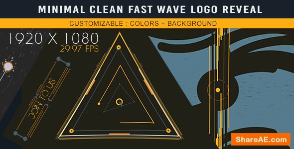 Videohive Minimal Clean Fast Wave Logo Reveal