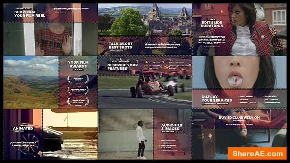 Videohive Cinematic Film Reel Slides