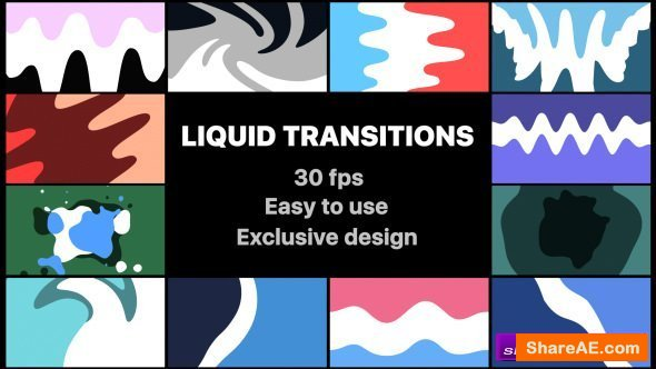 Videohive Liquid Transitions