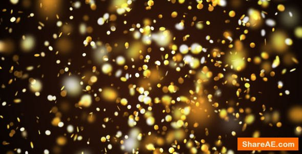 Videohive Gold Confetti Pack - Motion Graphic