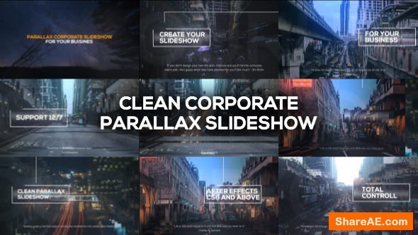 Videohive Clean Corporate Parallax Slideshow