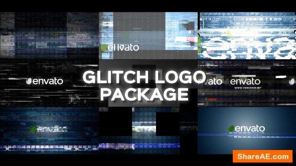 Videohive Glitch Logo Pack 19643456