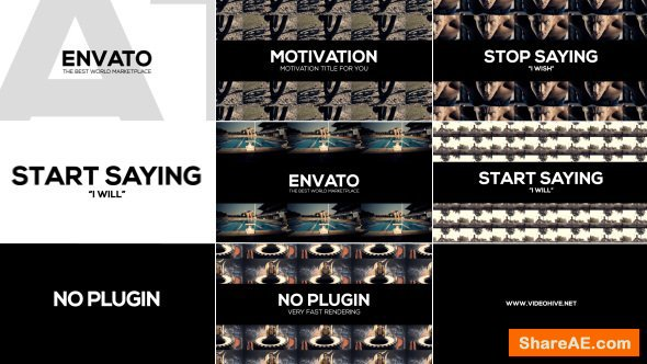 Videohive Clean Motivation Title
