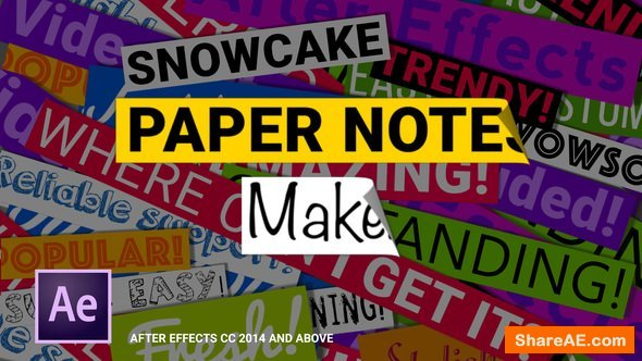 Videohive Paper Notes Maker - Titles and Lower Thirds