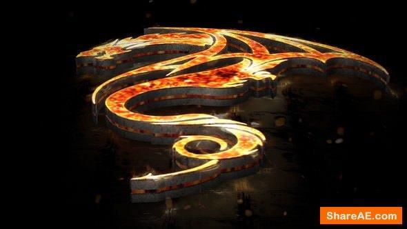 Videohive Flames 3D Logo