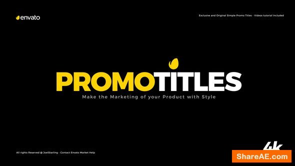 Videohive Simple Promo Titles Package