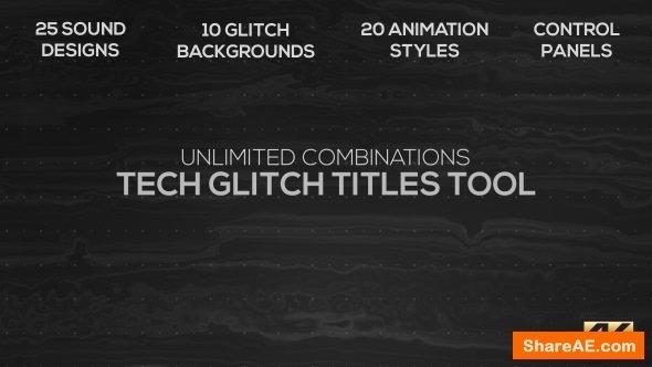 Videohive Tech Glitch Titles Tool