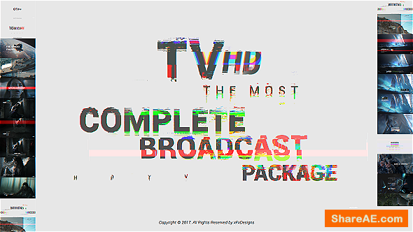 Videohive Glitch TV Complete Broadcast Graphics Package
