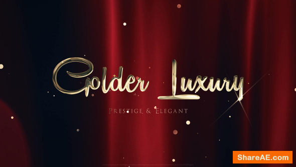 Videohive Golden Luxury Red Carpet Titles