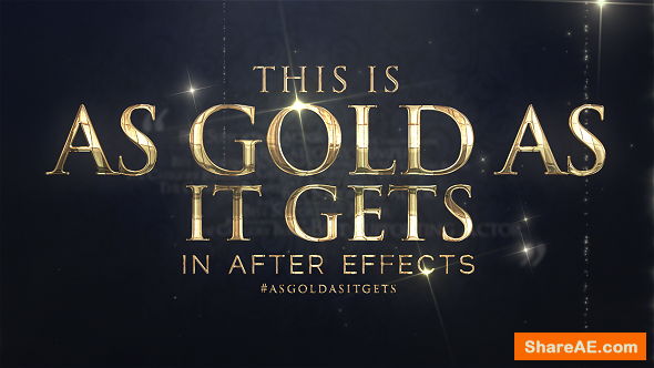 Videohive As Gold As It Gets - Awards Broadcast Package