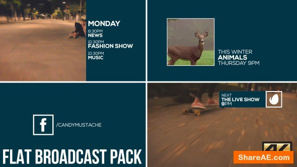 Videohive Flat Broadcast Pack 16548773