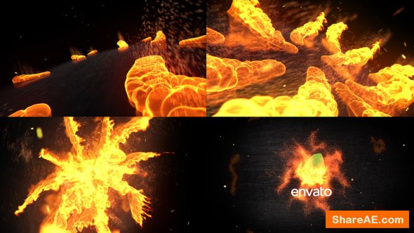 Videohive Fire Logo Opener 16041978