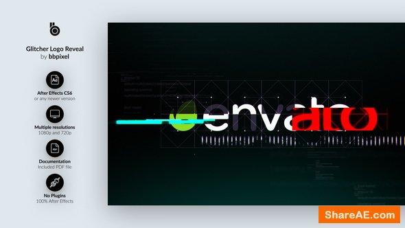 Videohive Glitcher Logo Reveal