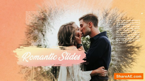 Videohive Romantic Ink Slideshow