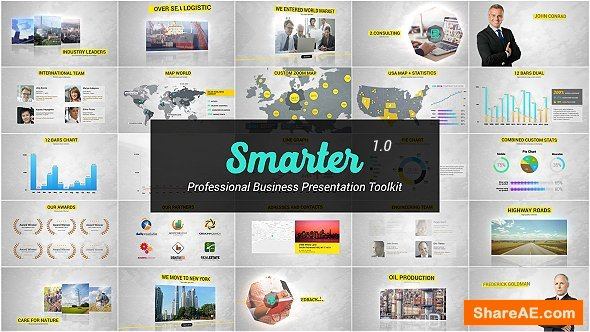 Videohive Smarter - Business Presentation & Infographics Toolkit