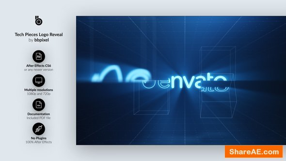 Videohive Tech Pieces Logo Reveal