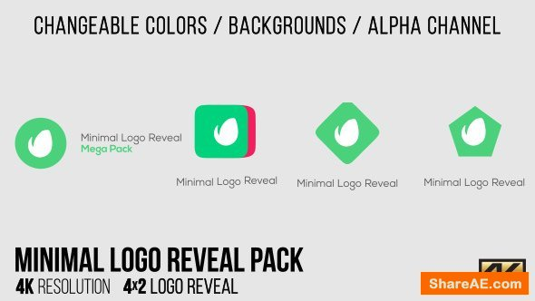 Videohive Minimal Logo Reveal Pack