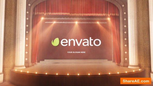 Videohive Theatre Curtain Logo