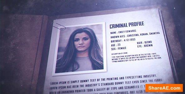 Videohive Crime File