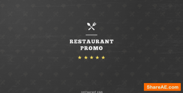 Videohive Restaurant Promo